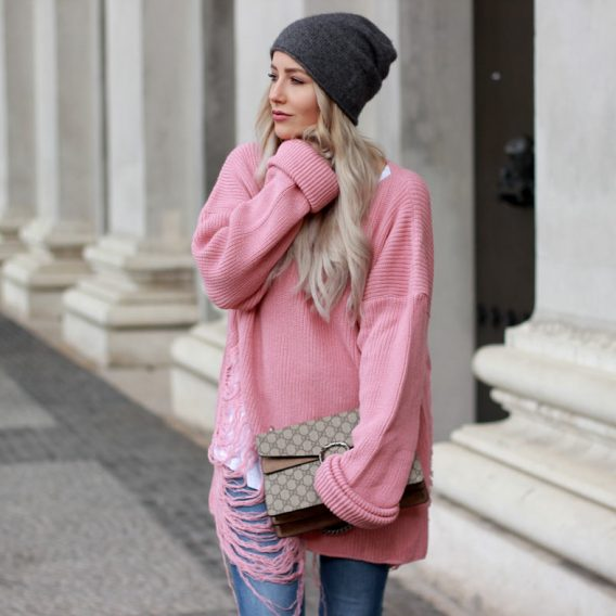 SWEATER WEATHER – MY FAVORITE PINK PULLOVER